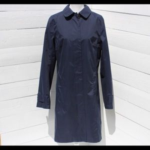 Lands End Navy Raincoat Size M (10-12)